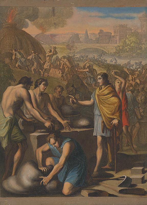 Caspar Luyken, Christoph Weigel st. - Práca hebrejských otrokov v Egypte
