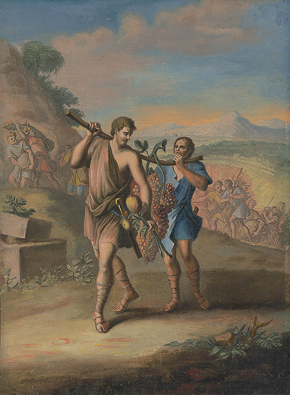 Caspar Luyken, Christoph Weigel st. – Káleb a Jozue sa vracajú zo zeme Kanaán