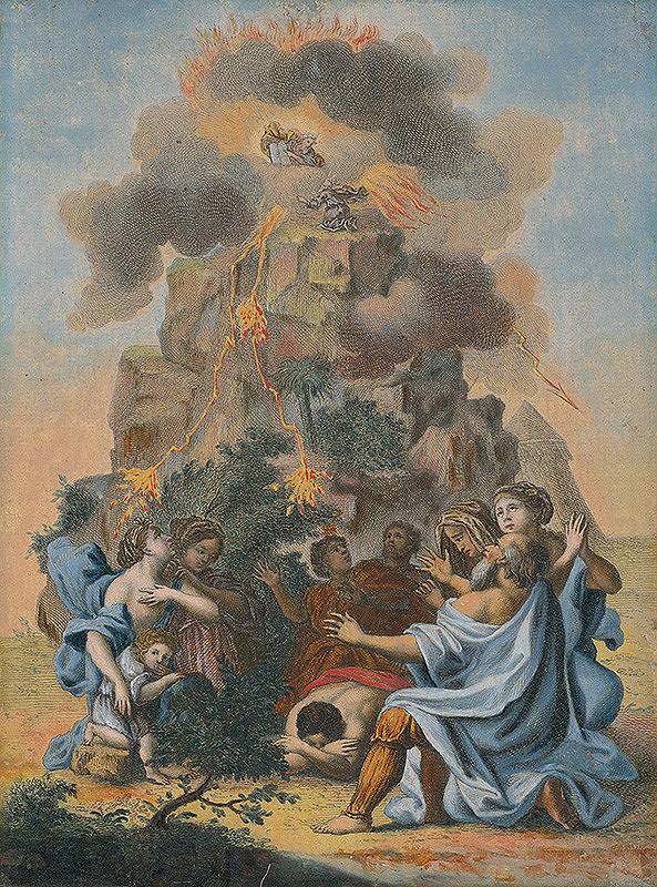 Stredoeurópsky maliar zo 17. storočia - Mojžiš preberá desatoro