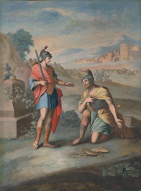 Caspar Luyken, Christoph Weigel st. - Jozua a knieža vojska Hospodinovho