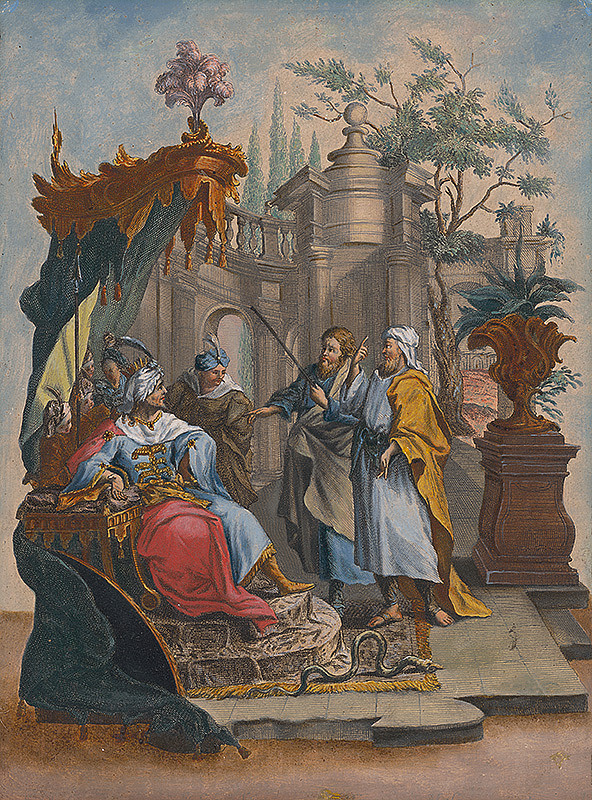 Stredoeurópsky maliar zo 17. storočia – Mudrci veštia Herodesovi zrod kráľa Židov