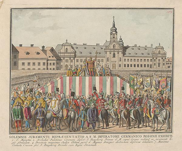 Stredoeurópsky grafik z 18. storočia - Prísaha Leopolda II.