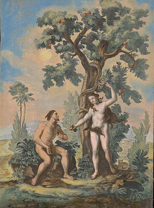 Johann Georg Hertel, Gottfried Bernhard Göz - Adam, Eva a had