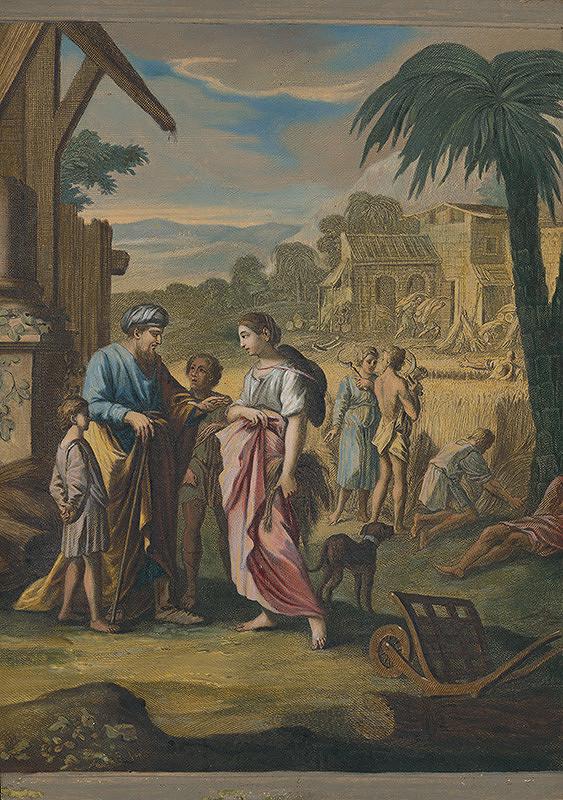 Caspar Luyken - Ruth stretáva Boaza v poli s obilím