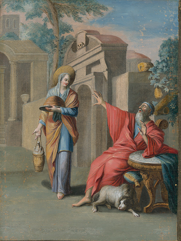 Caspar Luyken - Prorok Ahiáš a žena Jeroboama I.