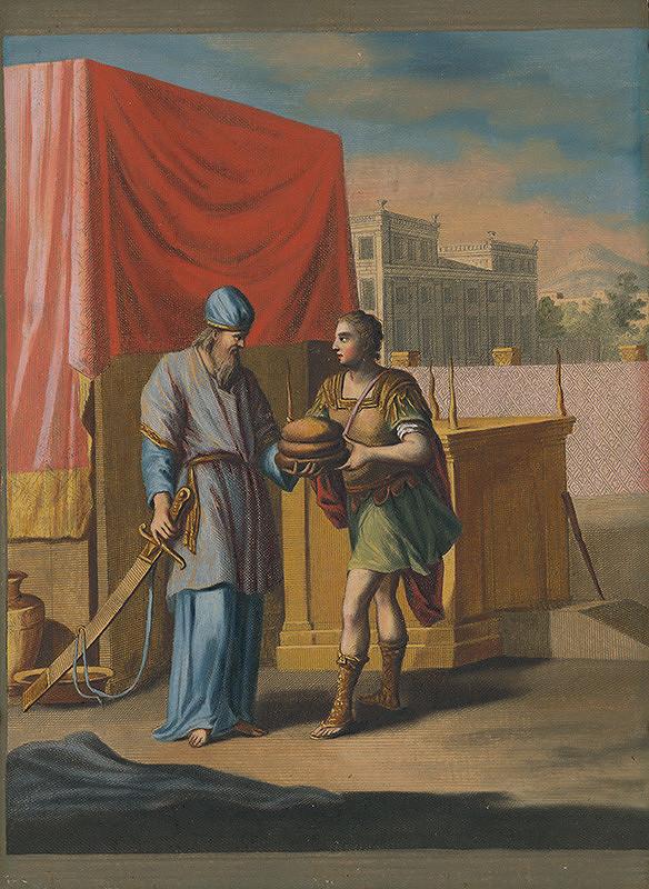 Caspar Luyken, Christoph Weigel st. – Kňaz Achimelech dáva Dávidovi sväté chleby