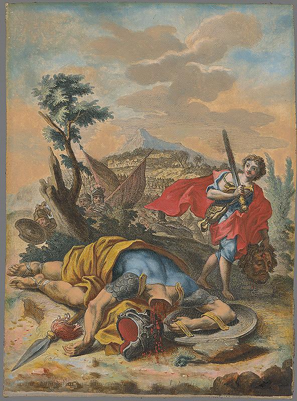 Johann Georg Hertel, Gottfried Bernhard Göz – Dávid a Goliáš
