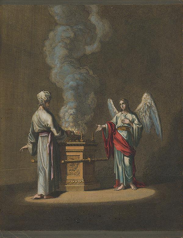 Stredoeurópsky maliar zo 17. storočia - Anjel sa zjavuje Saulovi