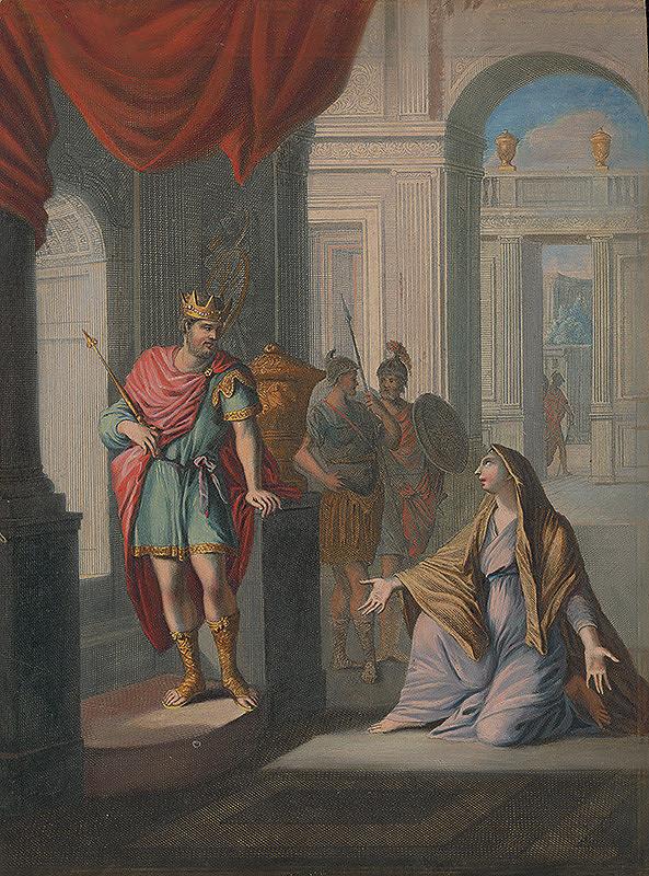 Caspar Luyken, Christoph Weigel st. – Žena z Tekóy pred kráľom Dávidom