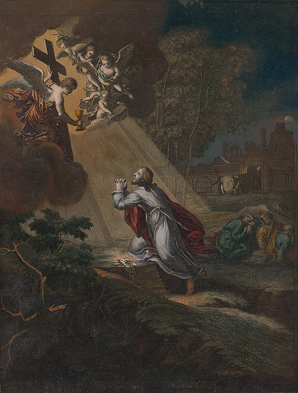 Caspar Luyken - Kristus na hore Olivovej