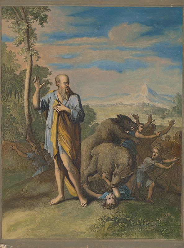 Caspar Luyken, Christoph Weigel st. – Elizeus preklína chlapcov z Bételu
