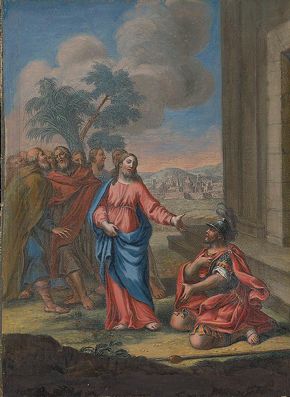 Caspar Luyken – Kristus a stotník z Kafarnaumu