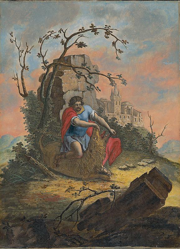 Stredoeurópsky maliar zo 17. storočia – Samson zabíja leva