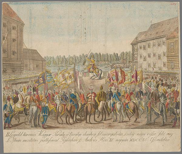 János Berken – Leopold II. na korunovačnom vŕšku v Bratislave