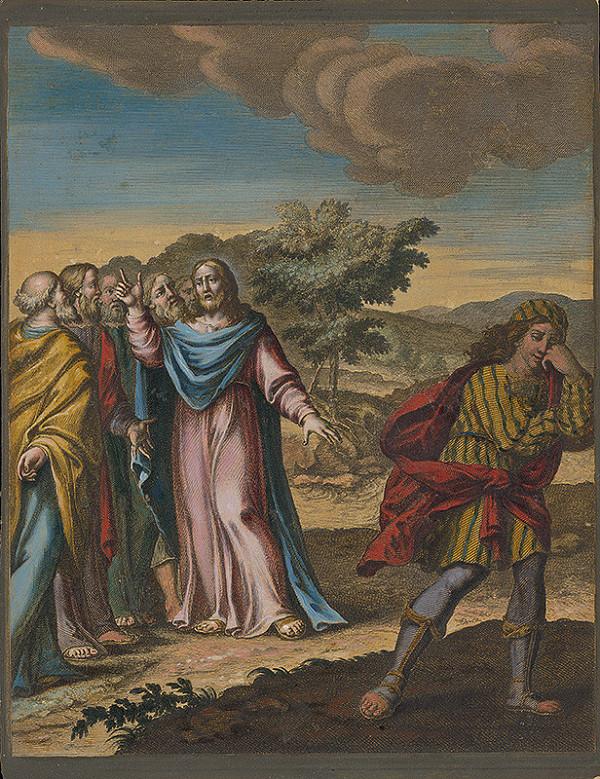 Stredoeurópsky maliar zo 17. storočia - Ježiš a bohatý mládenec