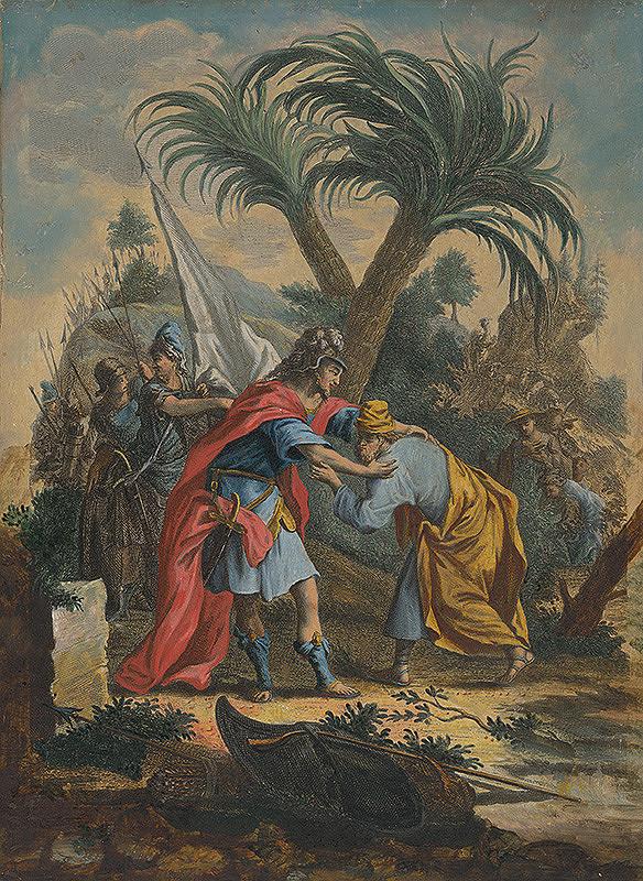 Stredoeurópsky maliar zo 17. storočia – Stretnutie Jákoba s Ezauom