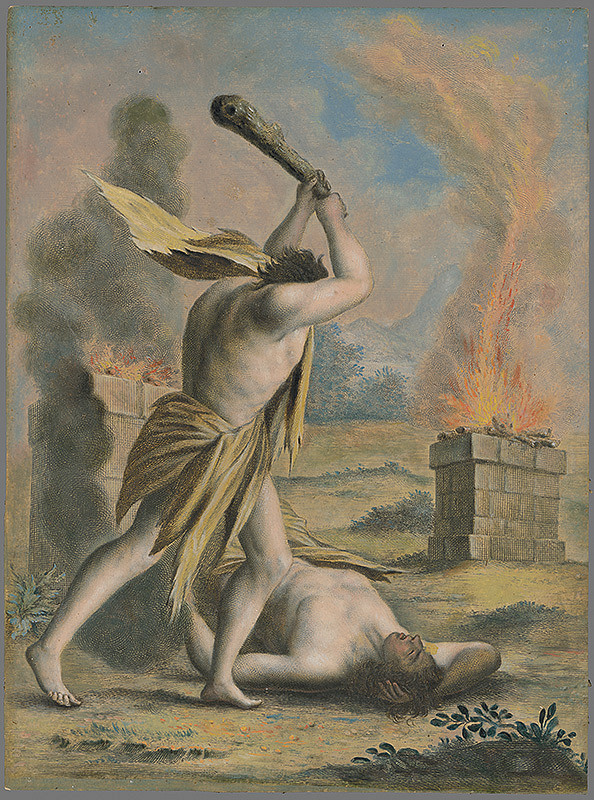 Stredoeurópsky maliar zo 17. storočia - Kain zabíja Ábela