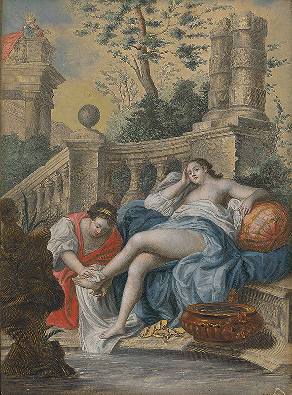 Jean François De Troy – Bathseba v kúpeli