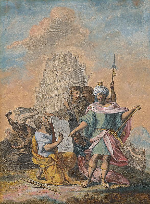 Stredoeurópsky maliar zo 17. storočia - Stavba babylónskej veže