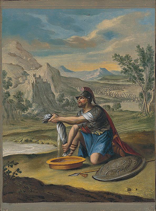 Caspar Luyken, Christoph Weigel st. – Gedeon žmýka ovčie rúno