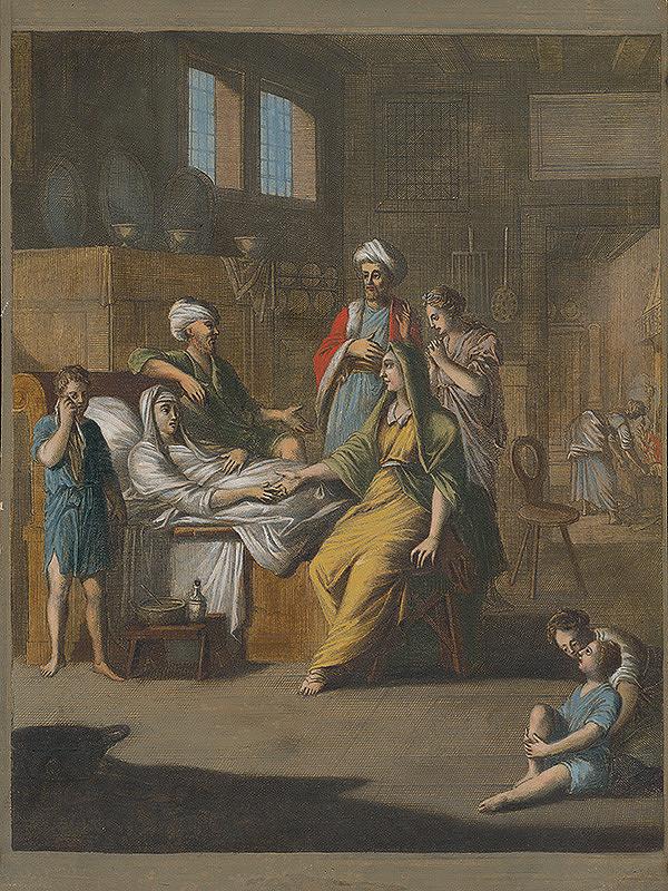 Caspar Luyken, Christoph Weigel st. – Navštívenie chorého