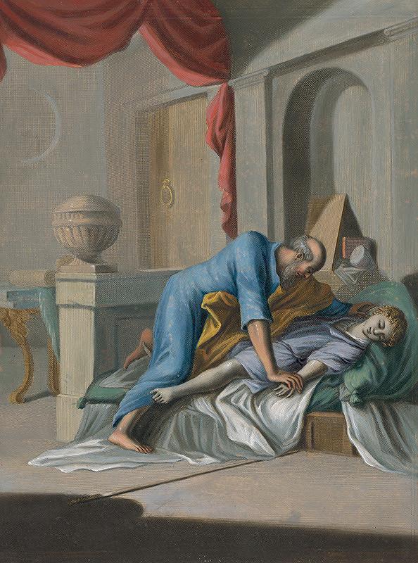 Caspar Luyken, Christoph Weigel st. - Eliáš sa vystiera nad mŕtvym synom vdovy