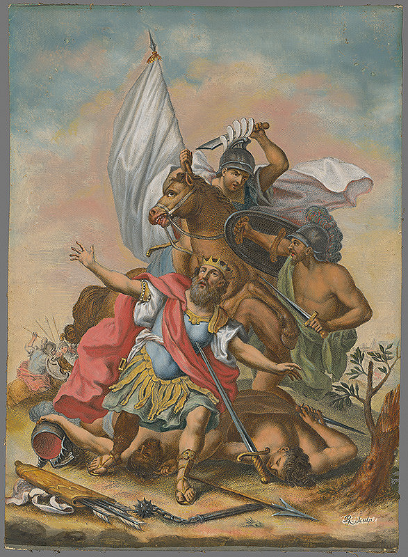 Johann Georg Hertel, Gottfried Bernhard Göz, Jeremias Gottlob Rugendas – Smrť Saula