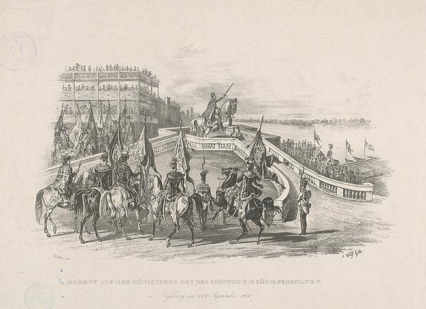 Johann Nepomuk Höchle, František Wolf – Ferdinand V. na korunovačnom vŕšku v Bratislave