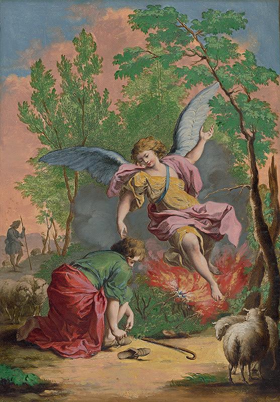 Francesco Bartolozzi, Giuseppe Zocchi, Joseph Wagner – Mojžiš a horiaci ker
