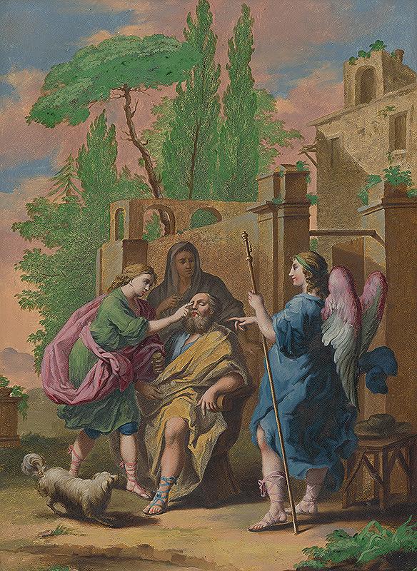 Stredoeurópsky maliar z 18. storočia - Slepý Tobiáš a anjel