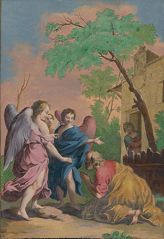 Jacopo Amigoni, Francesco Bartolozzi – Abrahám kľačí pred troma anjelmi
