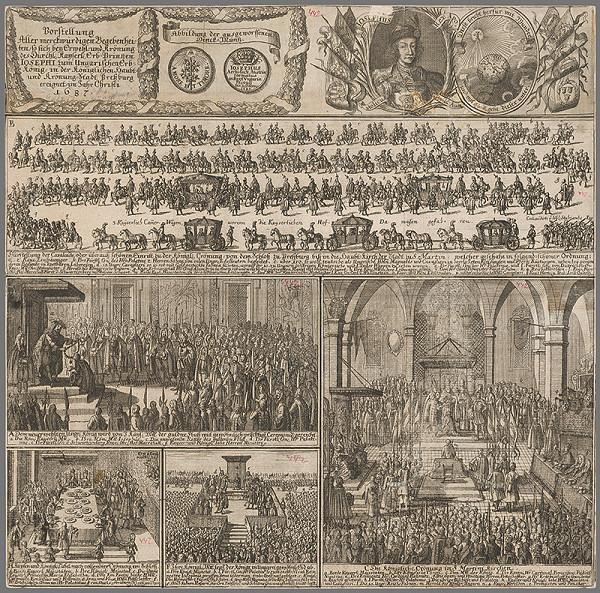 Stredoeurópsky grafik zo 17. storočia – Výjavy z korunovácie Jozefa I. v Bratislave