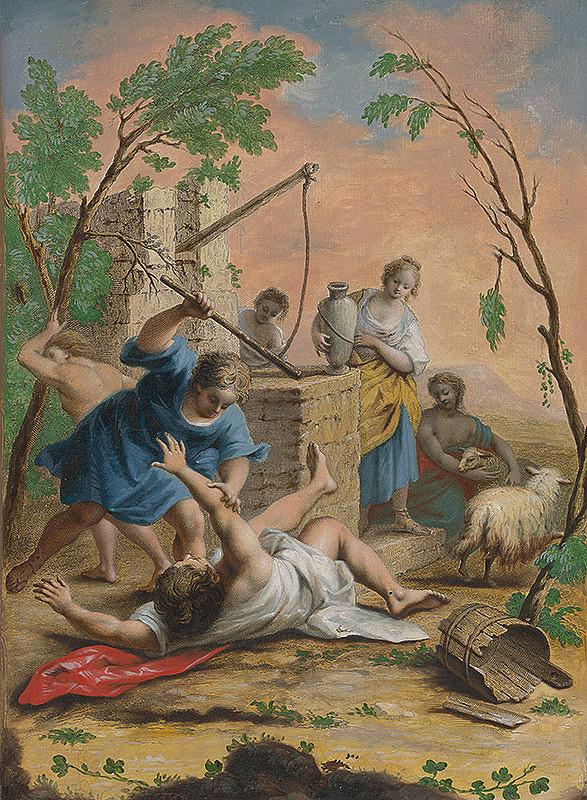 Jacopo Amigoni – Mojžiš bráni Jetreho dcéry