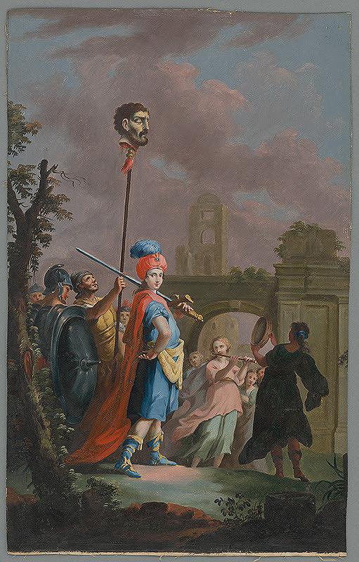 Giuseppe Zocchi, Joseph Wagner - Dávid sa vracia s Goliášovou hlavou
