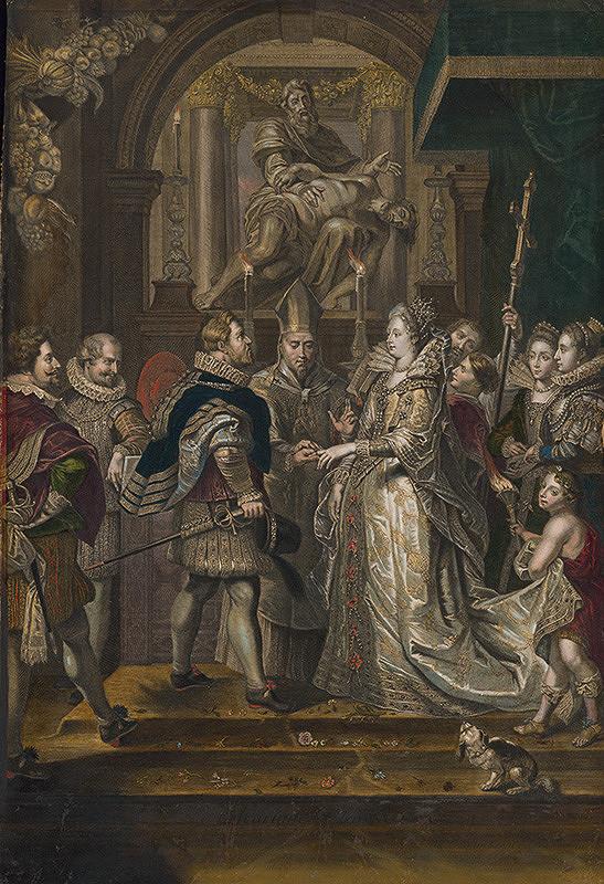 Peter Paul Rubens, Antoine Trouvain, Jean Marc Nattier – Svadba Márie de Medici per procuram s Henrichom IV.