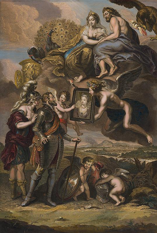 Jean Audran, Peter Paul Rubens, Jean Marc Nattier – Henrich IV. prijíma portrét Márie de Medici