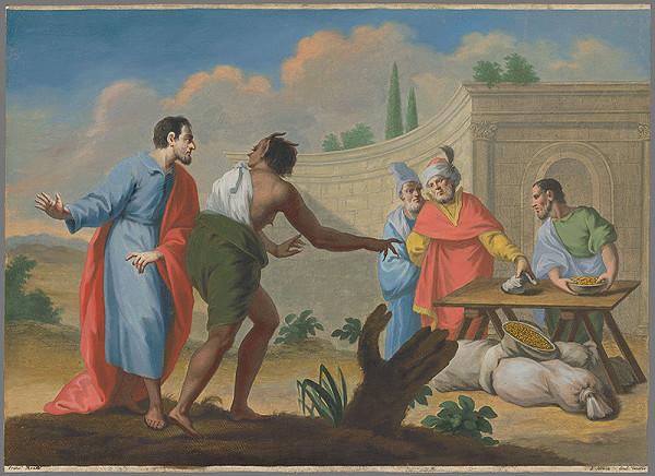 Francesco Moard, Thomas Major - Diabol pokúša muža ukazujúc mu bohatstvo jeho suseda