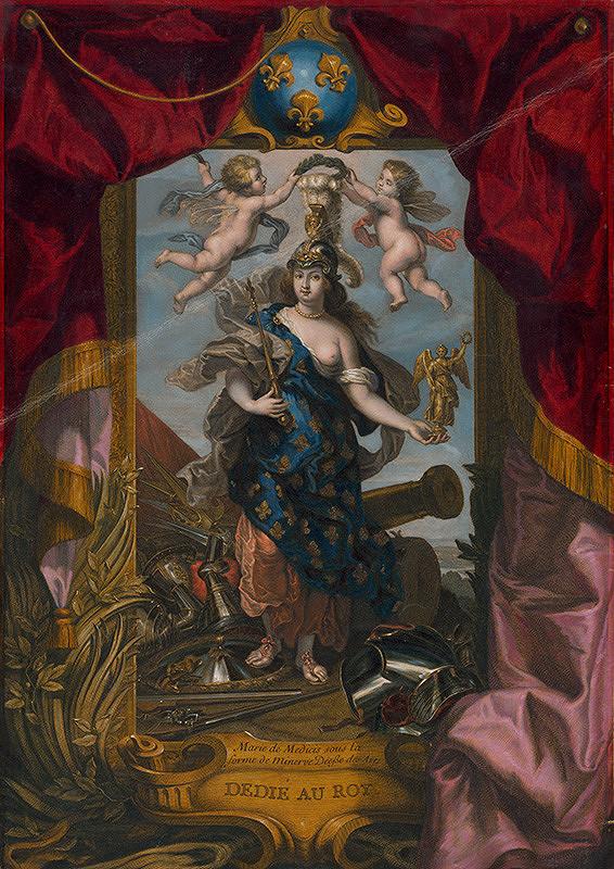 Jean Baptiste Massé, Jean Marc Nattier, Peter Paul Rubens – Mária de Medici, kráľovná a regentka Francúzska ako bohyňa vojny Bellona (1573 - 1642)