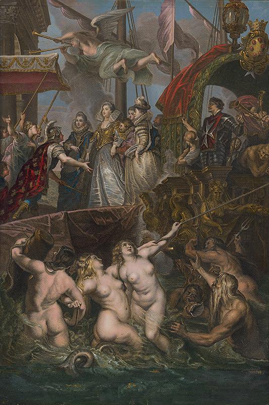 Gaspar Duchange, Jean Baptiste Nattier, Peter Paul Rubens - Vylodenie Márie de Medici v Marseille
