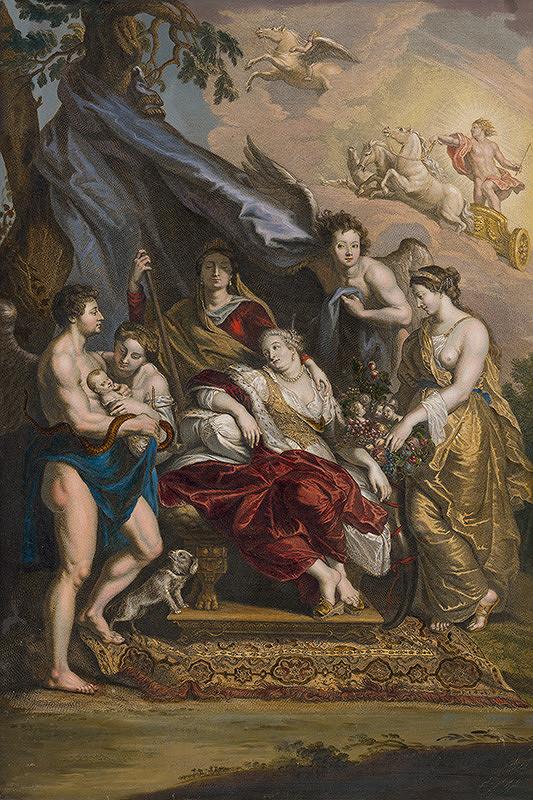 Benoit Audran, Jean Marc Nattier, Peter Paul Rubens - Narodenie Ľudovíta XIII.