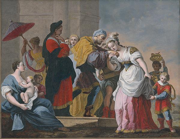 Giovanni Volpato, Jacopo Amigoni – Rebeka a služobník Abrahámov