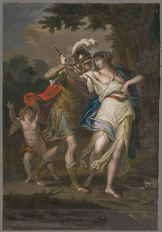 Angelica Kauffmann, Valentine Green – Rinadlo zachraňuje Armidu pred samovraždou (Renaldo arresting the arm of Almida to prevent her purpose of Suicide)