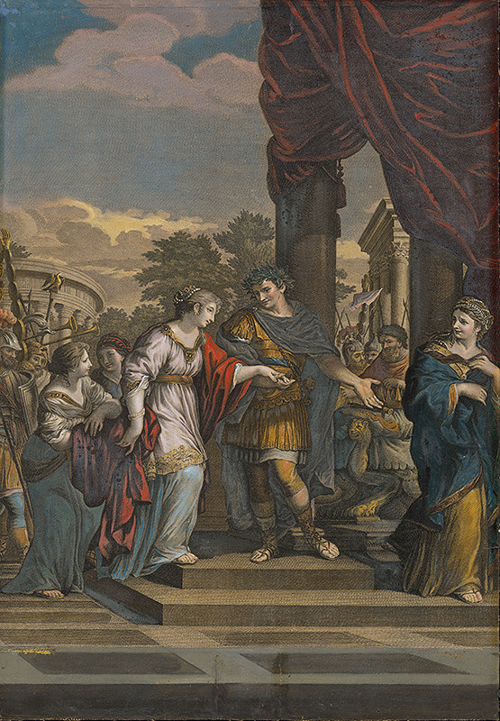 Pietro da Cortona, Cristoforo dall' Acqua – Cézar zavrhuje Pompeiu a berie si za manželku Calpurniu (Cesare ripudia Pompea e prende in moglie Calpurnia)