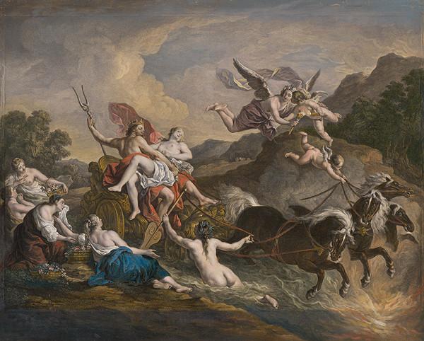 Jean Charles Levasseur, Jean François De Troy – Únos Proserpiny