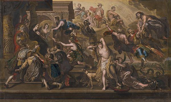 Peter Paul Rubens, Jean Baptiste Nattier, Gaspar Duchange – Apoteóza Henricha IV. a vyhlásenie regentstva Márie de Medici