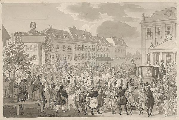 Franz Wolf – Príchod Ferdinanda V. do Bratislavy