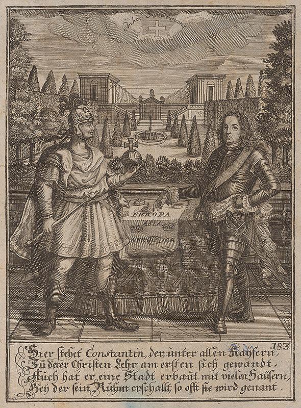 Stredoeurópsky grafik z 1. polovice 18. storočia – Cisár Konštantín