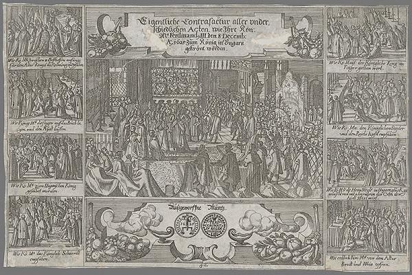 Georg Keller - Korunovácia Ferdinanda III. v Šoprone v roku 1625