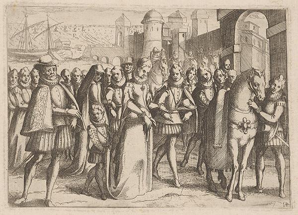 Stredoeurópsky grafik z 2. polovice 16. storočia - Izabella, kráľovná Kastílska
