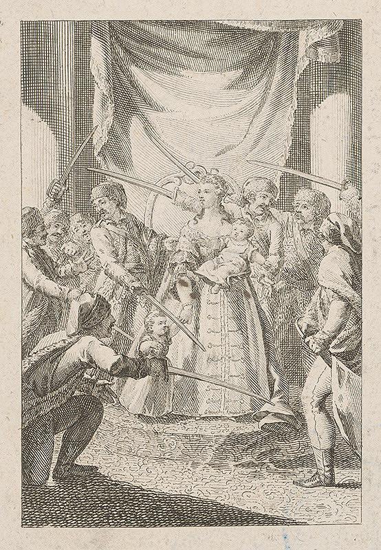 Johann Ernst Mansfeld – Mária Terézia na uhorskom sneme 1741